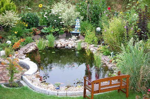 gartenteich hanglage - google-suche | garden ideas | pinterest | suche, Gartenarbeit ideen
