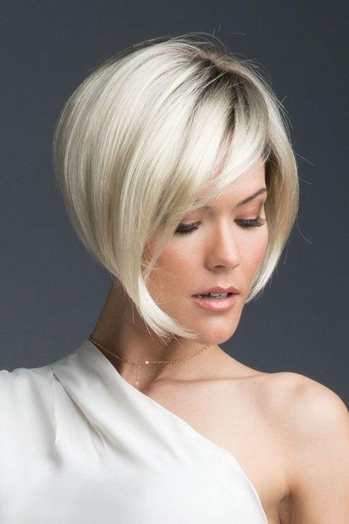 Geschichteten Kurze Haarschnitte für Frauen mit Feinem Haar – #Feinem #Frauen …