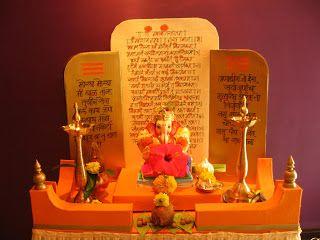 how to make ganesh mandir with paper