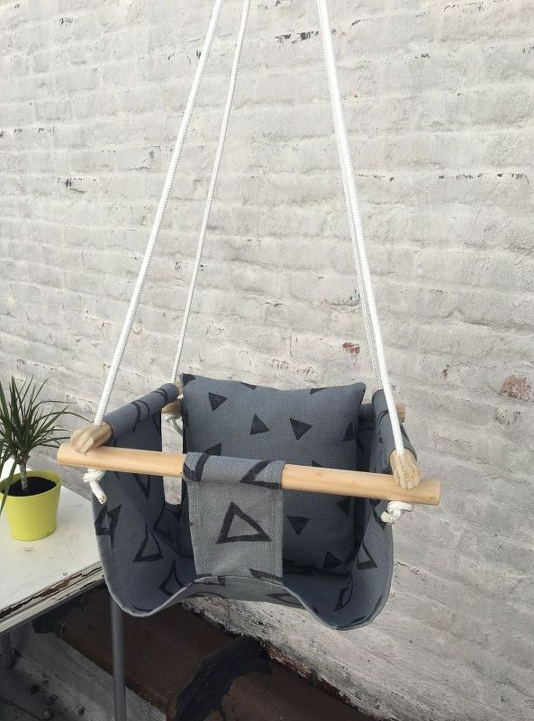 hand sewn baby swing, outdoor furniture, outdoor living, woodworking projects