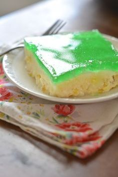 Vintage Recipe - Lime Jello Salad - a classic from the 50s and 60s!