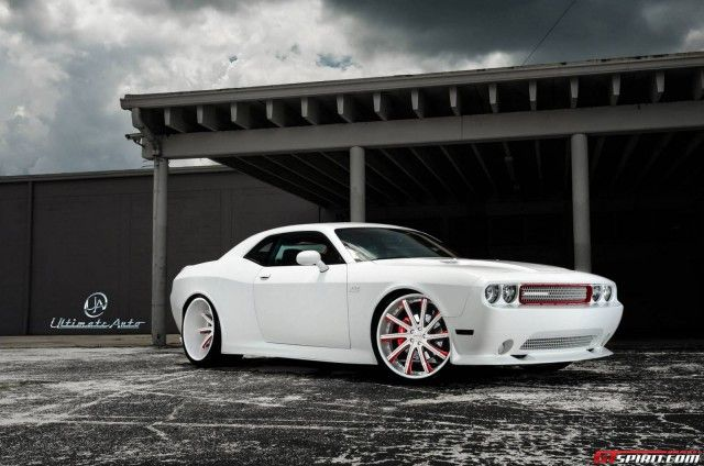 Matte White Dodge Challenger Widebody by Ultimate Auto