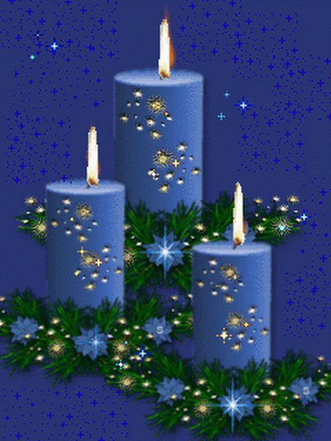 Открытки рождественская свеча, днем рождения подруга
