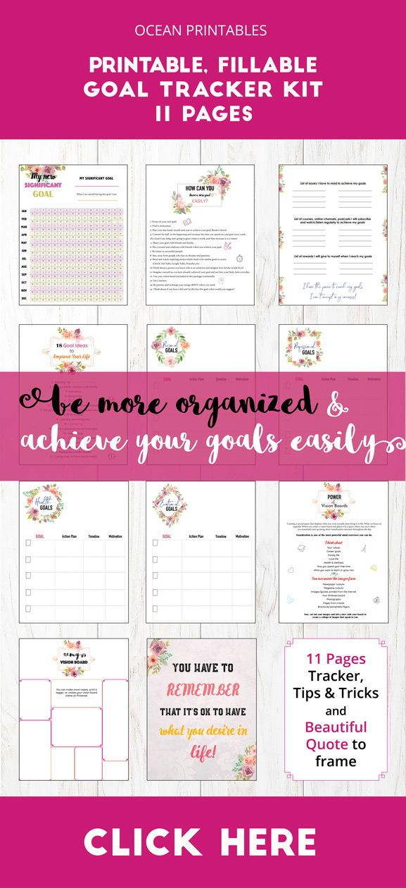 Budget Binder Savings Goals Printable16 printable goal sheets to