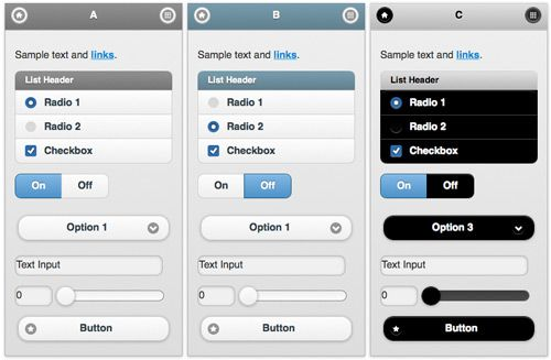 Mobile App Design/Dev: Custom Themes With JQuery Mobile