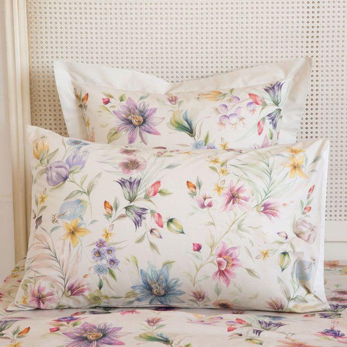 Multicoloured Floral Print Pillow Case