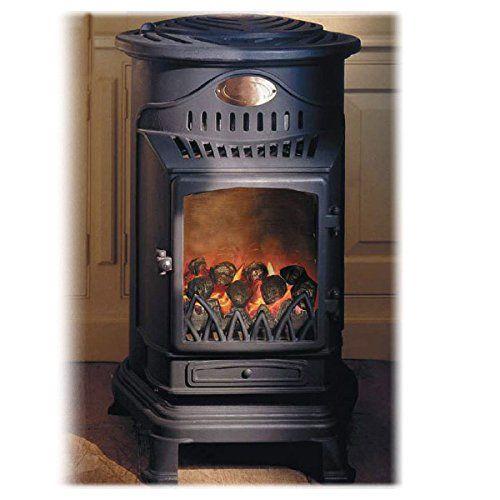 Chauffage gaz effet poêle à bois