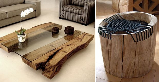 Recycling tree trunks