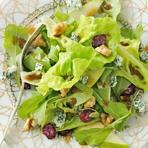 Pear Salad with Sugared Walnuts