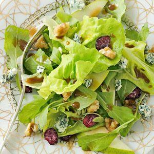 Pear Salad with Sugared Walnuts