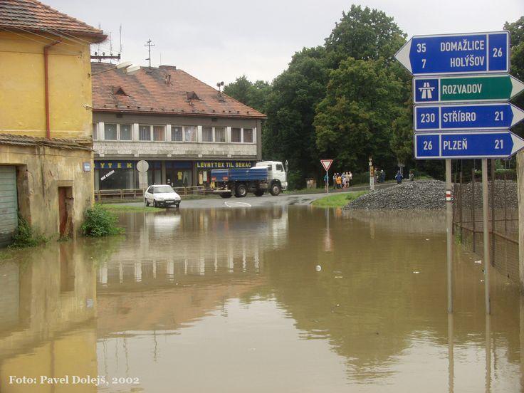 2002, Stod, povodeň, foto Pavel Dolejš.