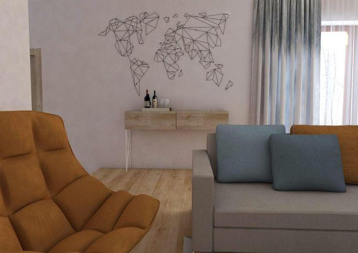 Originálna nástenná dekorácia - mapa sveta