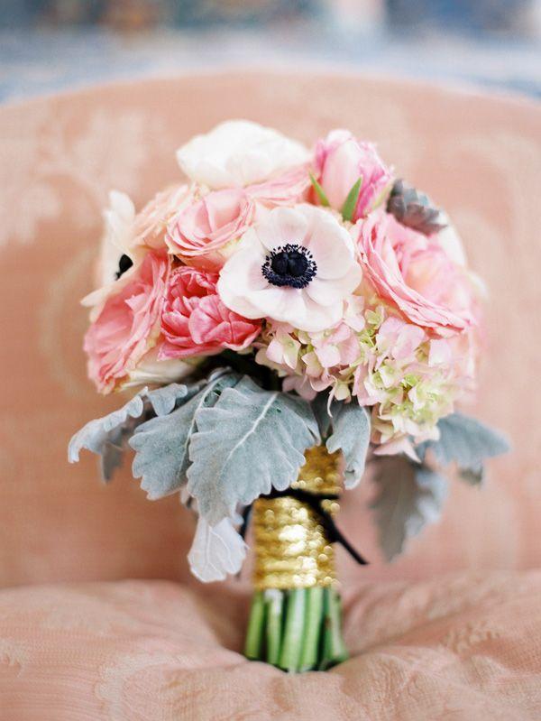 pink wedding bouquet by Poppy Love Weddings