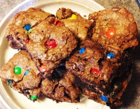 Candy Cookie Brownie Monster Bars