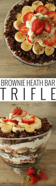 Okay, this brownie heath bar trifle is seriously addicting! Every time I bring this to a function it is gone in seconds.. so good!