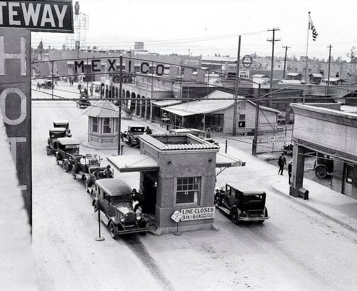 The Mexico/USA border 1929