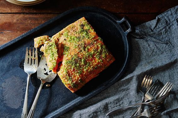 A Spicy Perspective's Garlic Lime Oven-Baked Salmon, a recipe on Food52