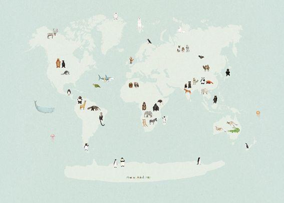 Katie Viggers: Animal World Map