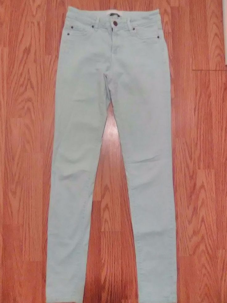 Garage Womens Jeggings Size 1 Stretch skinny pants light blue  #Madewell #CasualPants