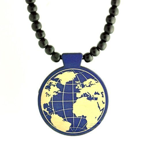 Swaggwood the World in Blue Color Pendant Maple All Natural Wood Necklace Made in the USA Swaggwood. $24.99. Wooden. Stylish. Made in the USA. Unique. Natural