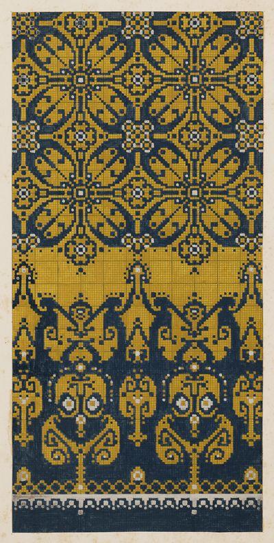 Ontwerp voor een tapijt | Renssen, M.D. (1883-1971) - Europeana