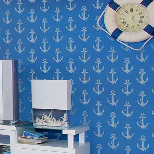 And thinking of ME!  Every girl needs an anchor.  Anchor stencil from Cutting Edge Stencils.