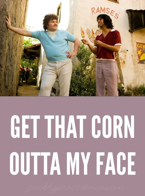 Mexican Grilled Corn recipe inspired by Nacho Libre!