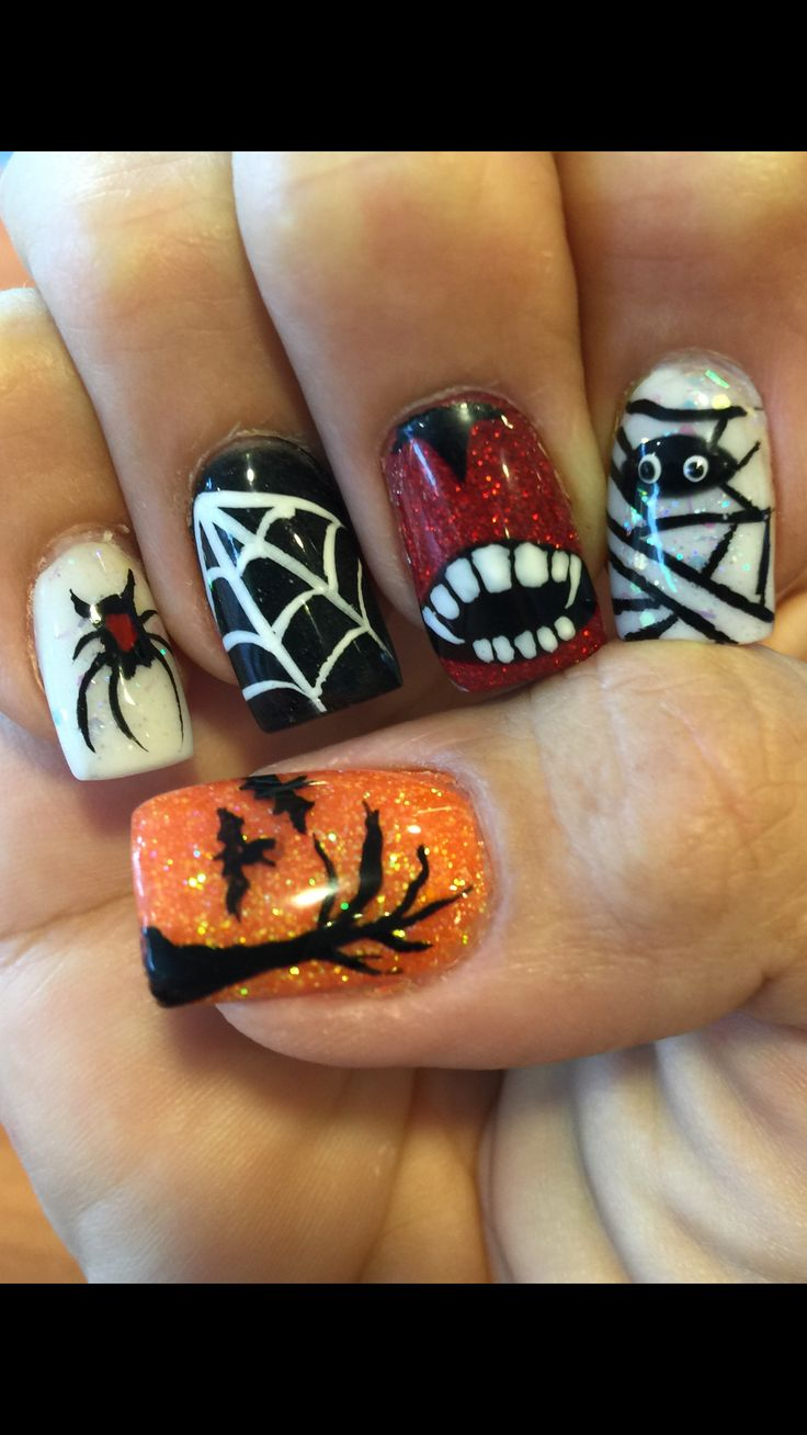 Halloween Nails: Best 25+ Halloween Acrylic Nails Ideas On Pinterest
