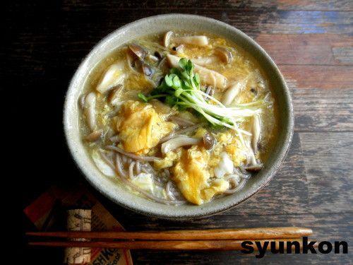 【簡単!!】きのこと卵のとろみそば|山本ゆりオフィシャルブログ「含み笑いのカフェごはん『syunkon』」Powered by Ameba