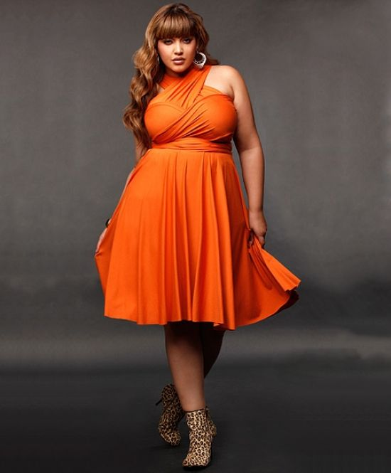 Orange Plus Size Formal Dresses – Fashion dresses