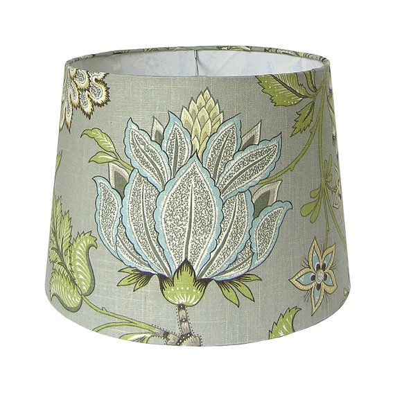Custom Lamp Shade  Floral Lampshade  Grey Lamp Shades