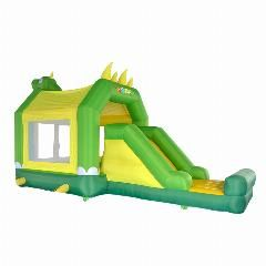 [ $48 OFF ] Yard Dinosaur Inflatable Bouncers Slide With Roof Kids Outdoor Play Bouncy Castle Combo Special Offer For Hot Zone