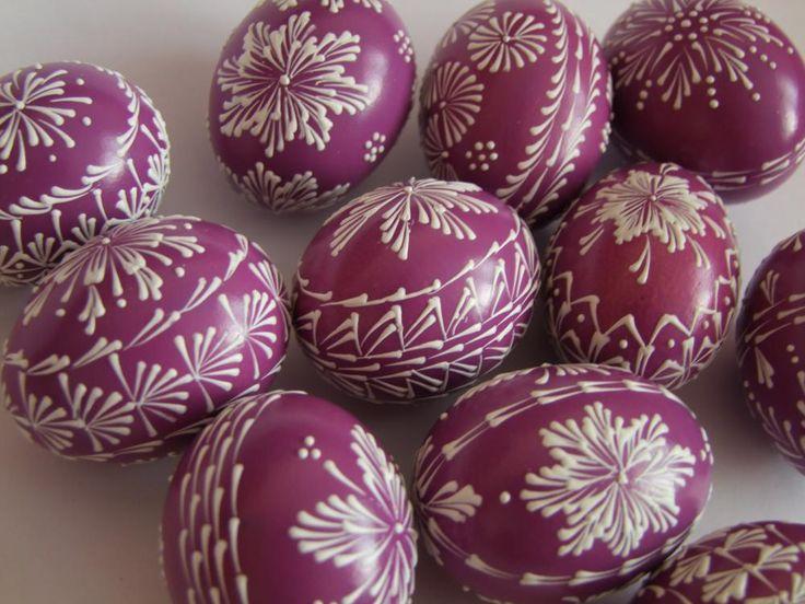 Fialové kraslice by ameldon - SAShE.sk - Handmade Dekorácie
