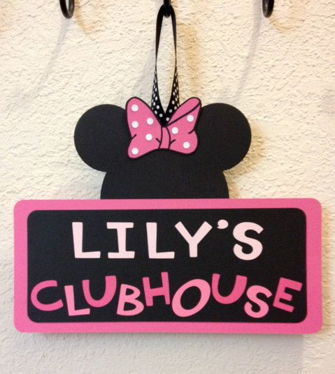 Minnie Mouse Birthday Clubhouse Sign  Or by TheGirlNXTdoor on Etsy, $12.00