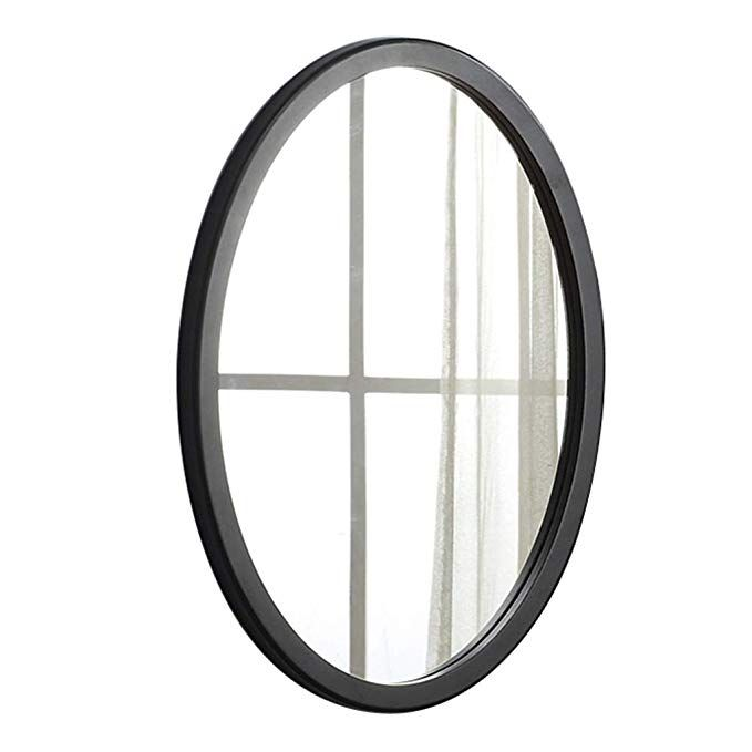 Amazon De Wandspiegel Spiegel Ovaler Massivholz Spiegel Fur