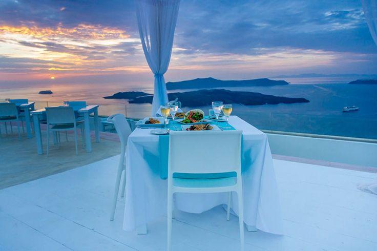 wedding restaurant gem santorini