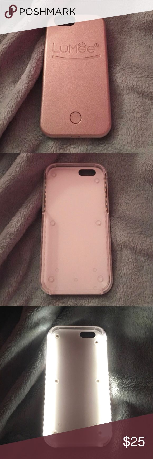 LuMee- iPhone 6/6s light up case- ROSE GOLD LuMee light up case is in great condition as it's only been used a handful of times and if even that. Now have an iPhone PLUS so this no longer fits. LuMee Accessories Phone Cases