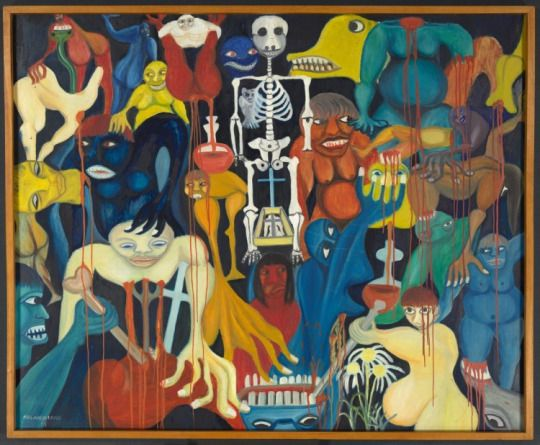 The River of Blood (1961) by MalangatanaNgwenya   @ClevelandArt Museum of Art #Mozambique #art #ArtoftheDay