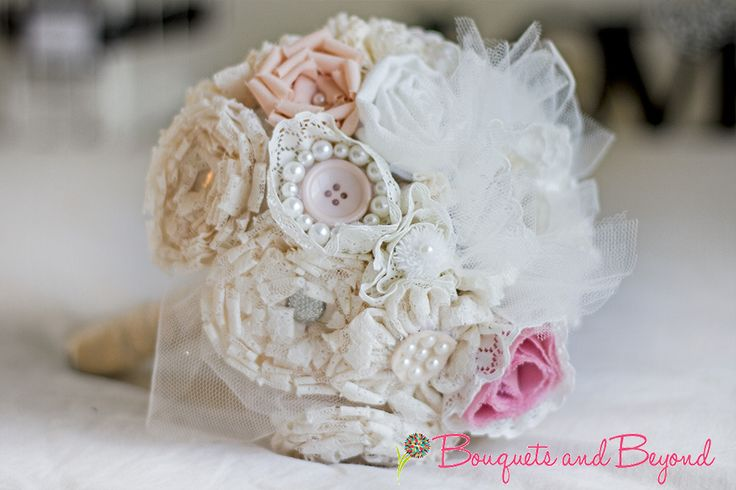 Vintage lace custom made wedding bouquet by Bouquets and Beyond