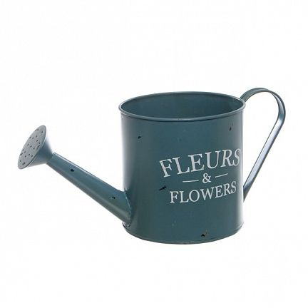 Tin Watering Can Jardinier 13.5x13.5cmH French Blue Also available in colour Moss & White