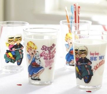 Valentine's Day Tumbler Set - eclectic - cups and glassware - Pottery Barn Kids