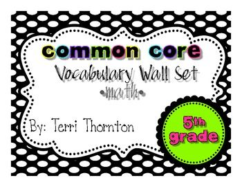 vocabulary wall packet is the ideal addition to any math classroom. It contains over 90 vocabulary cards - $6.00