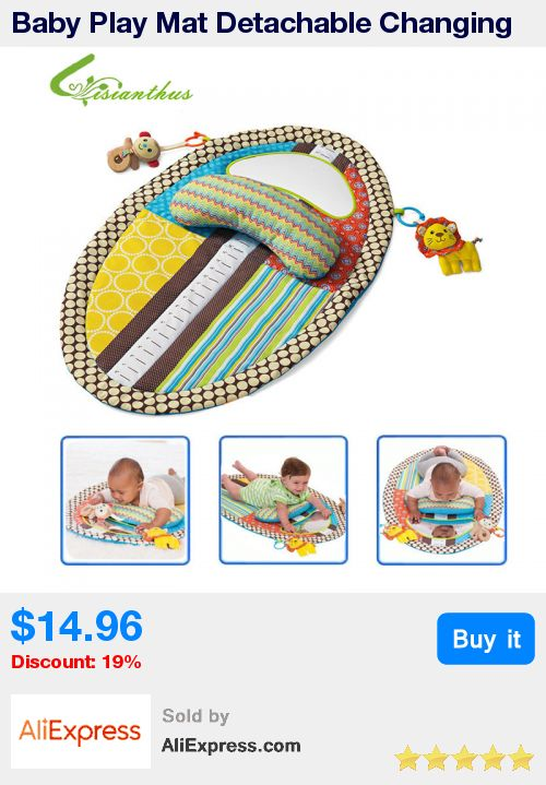 Baby Play Mat Detachable Changing Mat Infant Toddlers Height Measuring Early Education Toys with Pillow Safety Mirror Free Ship * Pub Date: 12:36 Apr 12 2017