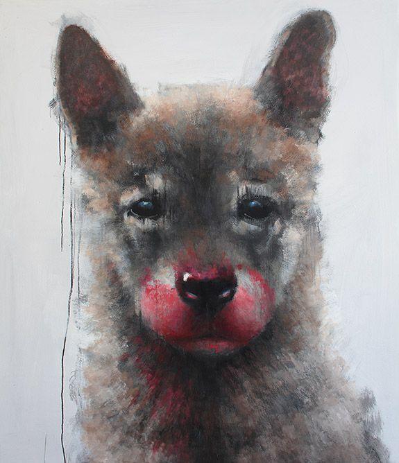 SAMULI HEIMONEN Romulus, 2015 acrylic and oil on canvas 160 x 140 cm