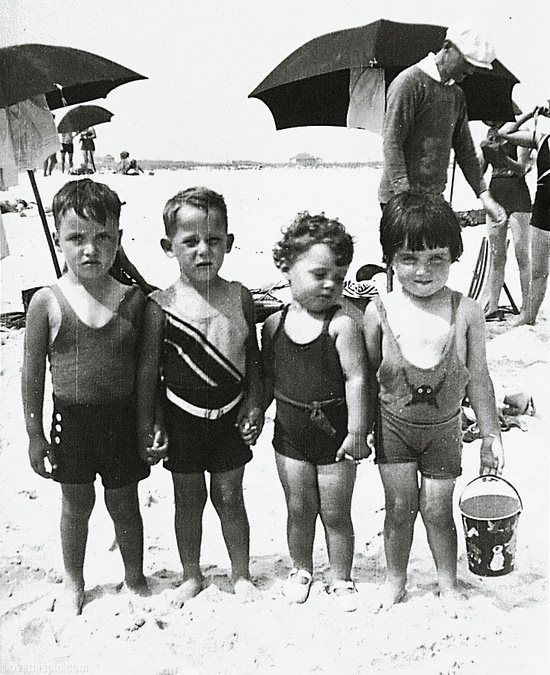 Kids on the Beach cute photography black and white beach kids photo old backandwhite children
