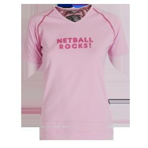 Netball Rocks! Pink T Shirt - available from  www.englandnetball.co.uk