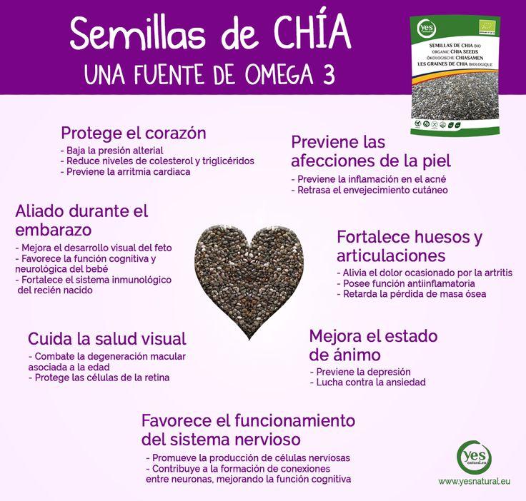 Las #semillasdechía son una de las fuentes más ricas en #omega3, por lo que aportan interesantes beneficios a nuestro organismo. #salud #comesano #superalimento #chía