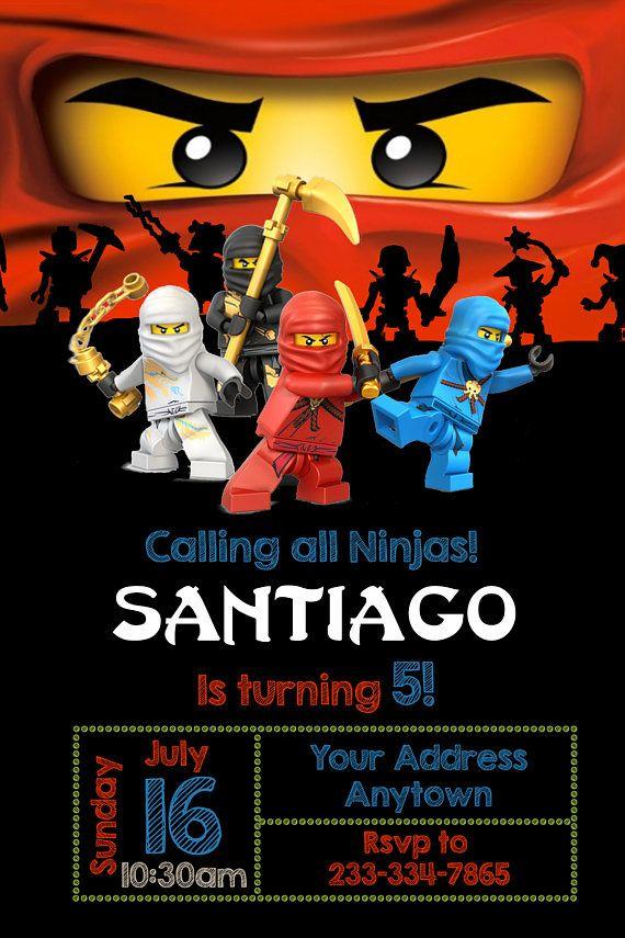 Lego Ninjago Invitation Ninjago Birthday Party Invitation