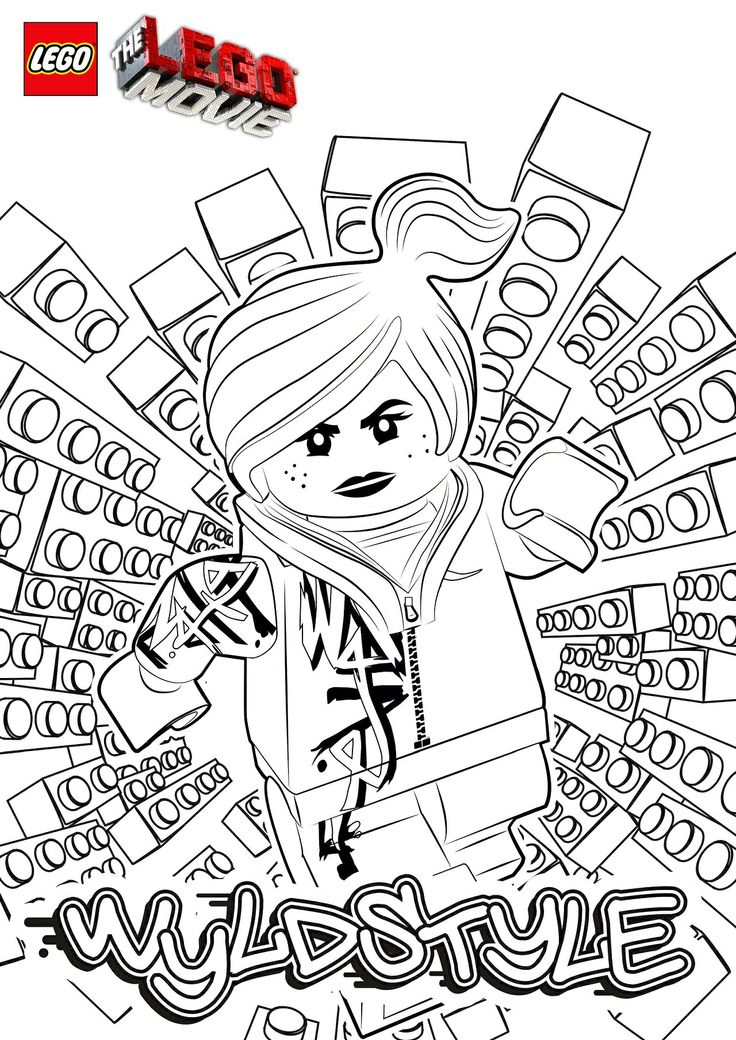 The Lego Movie - Wyldstyle Coloring Page
