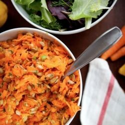 simple, fresh and gratifying salad with some crunch. Shredded carrots ...